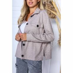 Рубашка-пальто женское оптом (42-48)Украина 2176-80986